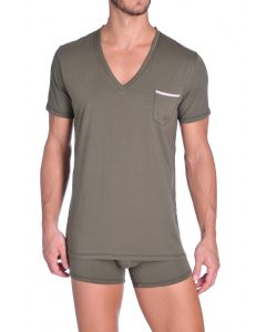 Diesel V-Shirt Jesse Army Green