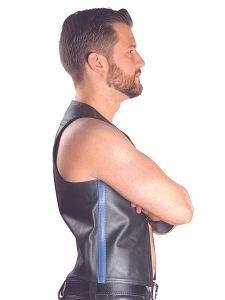 Mister B Muscle Vest Zwart-Blauw
