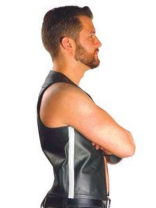 Mister B Muscle Vest Zwart-Wit