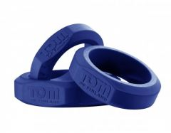 Tom of Finland Silicone Cock Ring Set - Blue