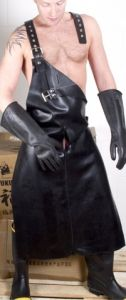 Mister B Rubber Apron with Harness