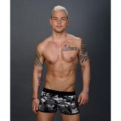 Andrew Christian - Sergeant Camo Jogger Shorts - Grijs