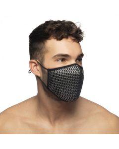 Addicted Party Face Mask - Zwart