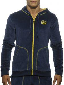 Addicted AD346 Velvet Sweatshirt Navy OP=OP!