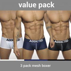 Addicted AD477P 3 Pack Mesh Boxer Push Up