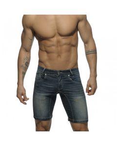 Addicted Mid Length Short - Dark Blue Jeans
