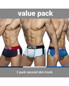 Addicted Second Skin 3 Pack Trunks - 3 Kleuren