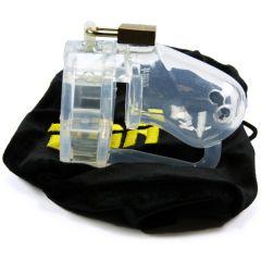 BON4 Silicone Chastity Cage Clear Small / Medium kopen