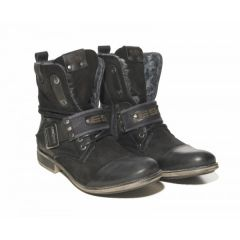 ES Leather Boots Zwart