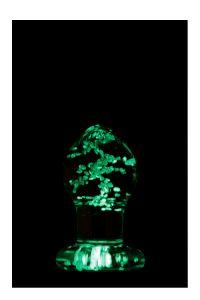 Lichtgevende Glazen Prostaatplug - Firefly 8.00 cm los