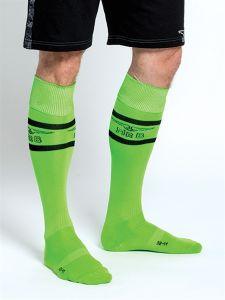 Mister B URBAN Football Socks with Pocket Neon Green