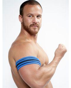 Mister B Neoprene Biceps Band Zwart Blauw