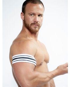Mister B Neoprene Biceps Band Zwart Wit