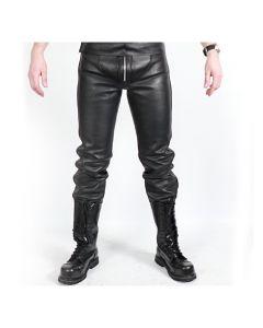 MisterMitch Leren Jeans met Rits - Zwart