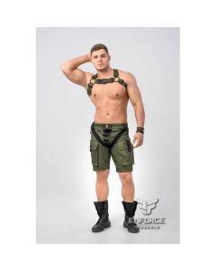 Maskulo Enforce Bulldog Harnas - Leger Groen
