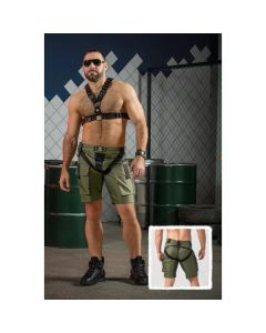 Maskulo Enforce Two-Sides Zippered Cargo Short - Leger Groen