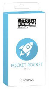Pocket Rocket Condooms Secura - 24 Stuks