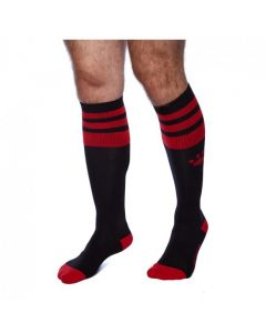 Prowler RED Football Sock Black/Red voor