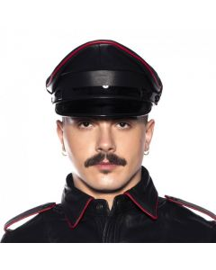 Prowler RED Military Cap Black/Red voorkant