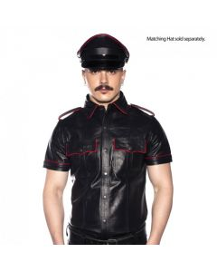 Prowler RED Politie Shirt Piped Zwart / Rood