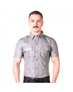 Prowler RED Slim Fit Police Shirt Grey voorkant