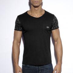 TS179 Sleeve Printed T-Shirt Black OP=OP!