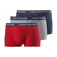 Tom Tailor Boxer Brief 3 Pack Red-Grey-Navy