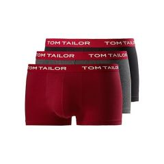 Tom Tailor Multipack Boxershorts Black-Red-Grey